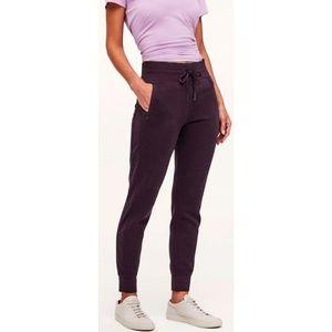 Lulu Get Going Joggers Black Cherry Sweatpants 10